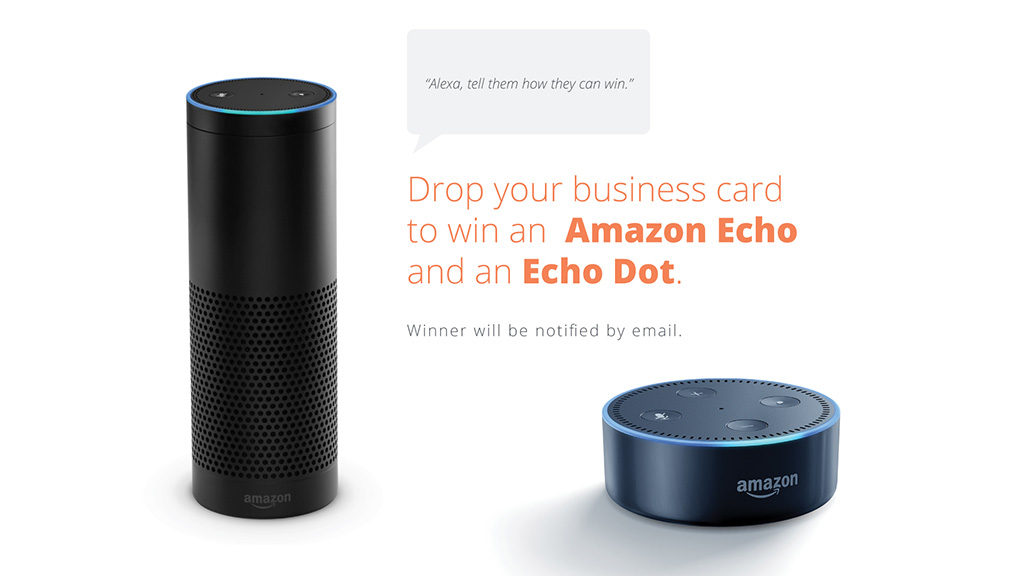 Enter for your chance to win an Amazon Echo