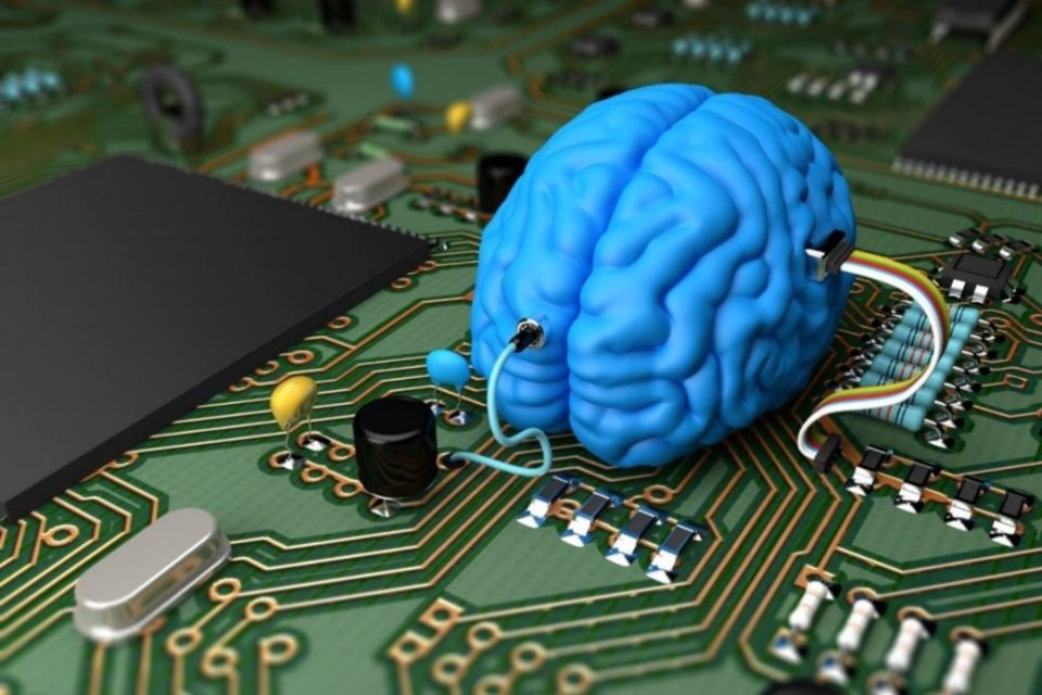 Brain plugged into motherboard