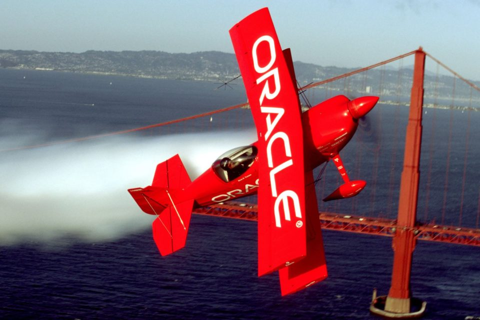 Plane with Oracle logo