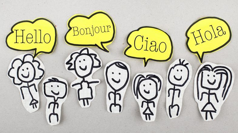 Figures speaking multiple languages