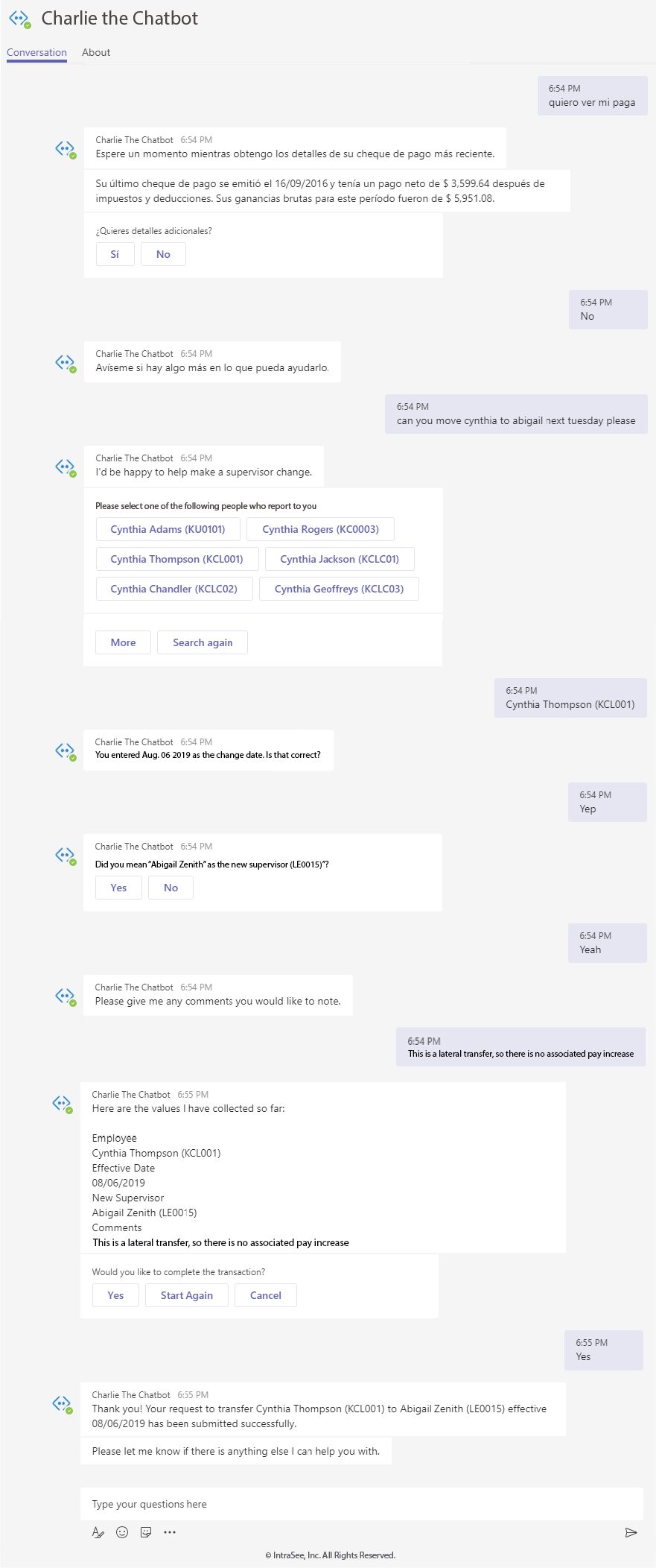 MS Teams Chatbot