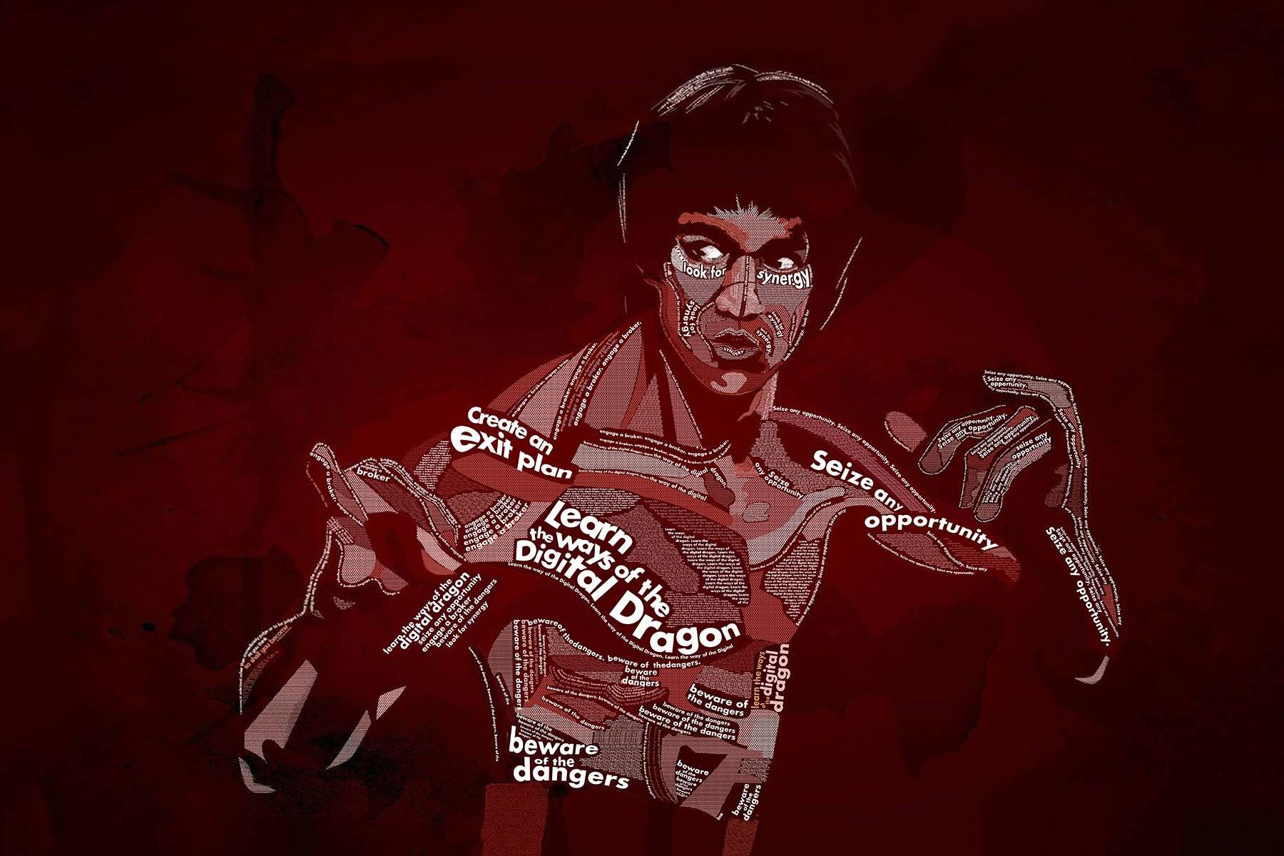 Bruce lee digital dragon