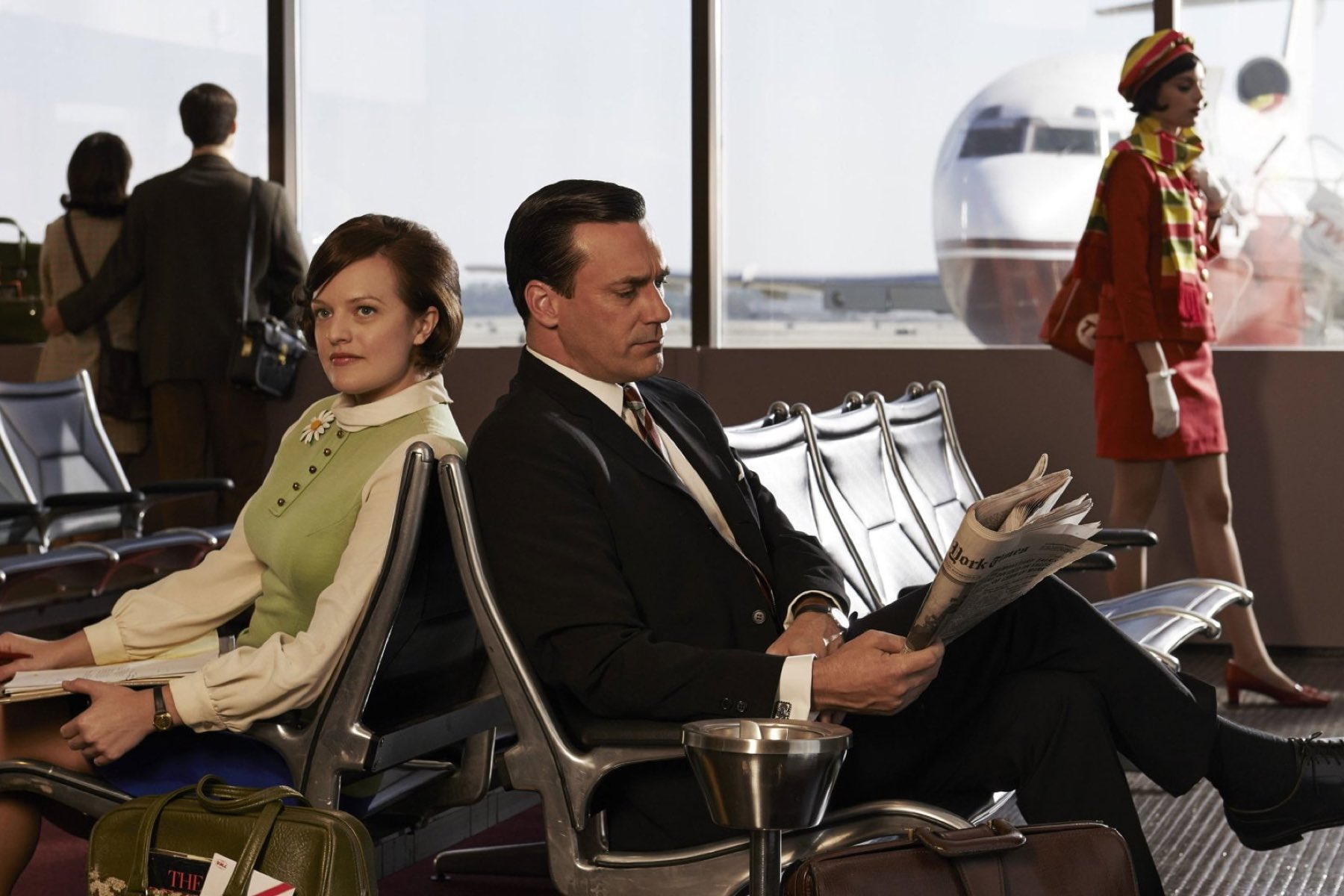 Mad Men: Peggy and Don in an airport