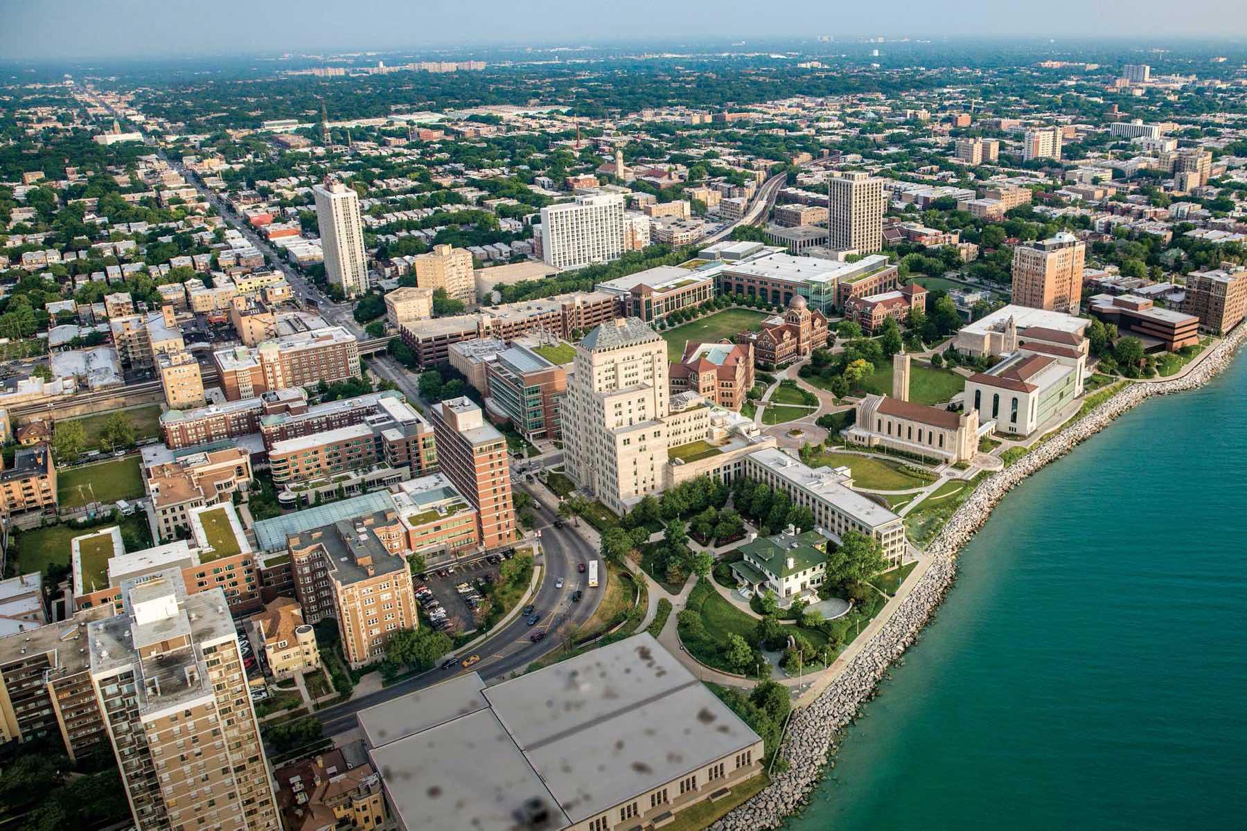 Loyola's Lakeshore Campus Aerial